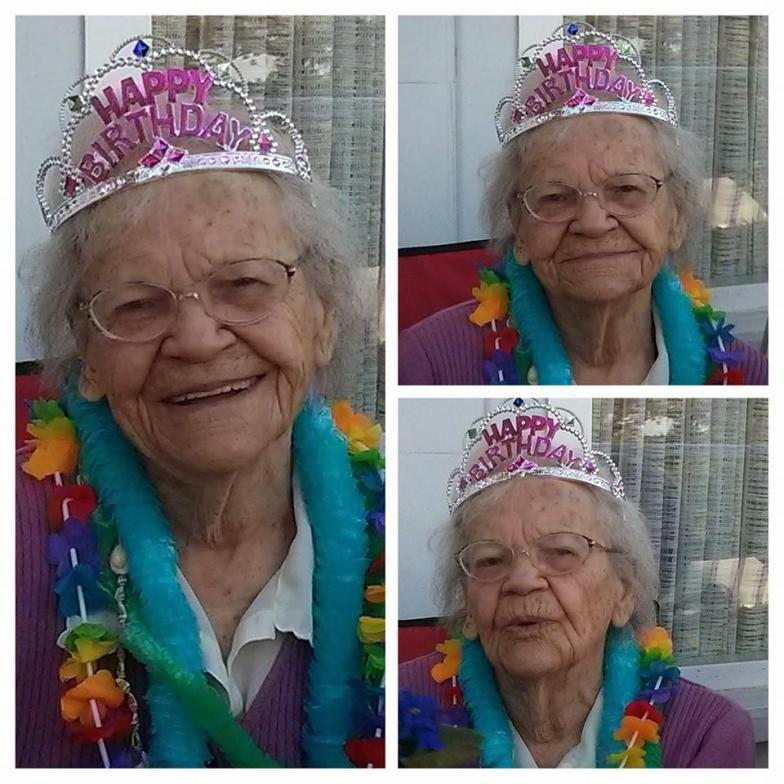 Letty on her 101st Birthday